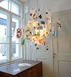 Zettel'z Ingo Maurer illuminazione a sospensione icona design Deco Luminaire, Luminaire Design, Lamp Design, Lighting Concepts, Lighting Design, Ma Lighting, Ingo Maurer, Mobile Art, Light Installation
