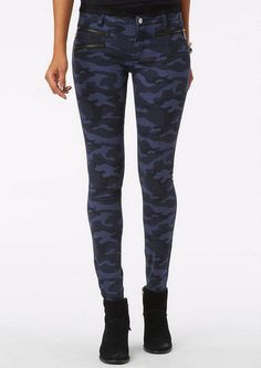 Camo Tonal Denim - Jeans - New Arrivals - dELiA*s LOVE the zippers on this