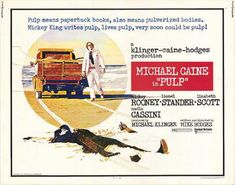 PULP Rolled Half Sheet Original by ScreenlandMoviepaper I Movie, Movie Stars, 1970s Movies, Lizabeth Scott, Film Posters, Pulp Fiction, Paperback Books, Memoirs, Good Movies