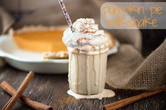Super fast and easy pumpkin pie milk shake! You won't believe what goes in there!