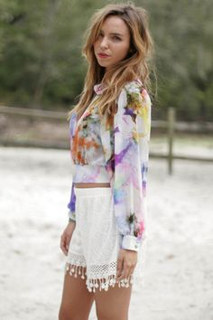 Watercolor Works, love the shorts!