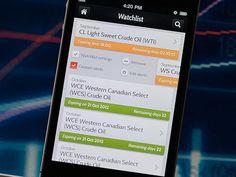 Trading app by Maria Garkusha, via Behance