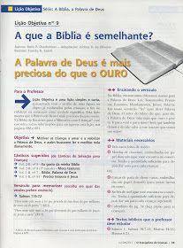 Pequeninos de Jesus: Lições sobre a Bíbia.