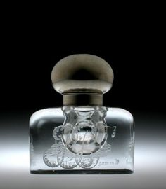 Engraved Inkwell by J. Hoare & Company, 1892.   Corning Museum of Glass #glass #Crystal City #inkwell