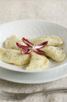 Tortelli di patate con radicchio di treviso