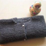 DIY knit ... Toddler cardigan ... Une poule a petit pas pattern
