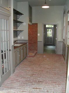 1000 ideas about brick tile floor on pinterest brick for Brick veneer floor