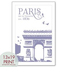 Paris Arc de Triomph -Travel Posters