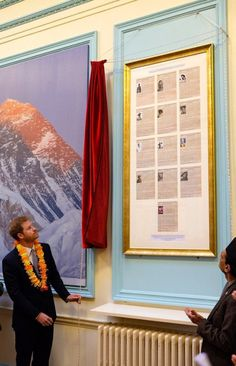 At today's celebrations marking 200 years of UK-Nepal relations, Prince Harry unveils a photograph of 13 Gurkha Victoria Cross recipients     - Kensington Palace