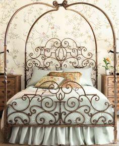 Tuscany Canopy Bed, evoking the bygone era