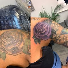 Before&After..........#tattoo #tattoos #ink #uktta #rose #badtattoo #brighttattoo #halfsleeve #girlswithtattoos #...  Before&After..........#tattoo #tattoos #ink #uktta #rose #badtattoo #brighttattoo #halfsleeve #girlswithtattoos #tattogirls #inkgirl #tattoosofinstagram #insta #instagram @uktta @amberzombers My Birthday Cake, Happy Birthday, Bright Tattoos, Bad Tattoos, Insta Instagram, Tattoos With Meaning, Inked Girls, Cake Toppers, Rose