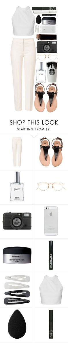 """Summer feel, fall colours"" by ali-sxn ❤ liked on Polyvore featuring ESCADA, Band of Outsiders, philosophy, Eyevan 7285, Lomography, MAC Cosmetics, Forever 21, beautyblender and NARS Cosmetics"