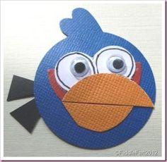 Punch Art Blue Angry Bird.