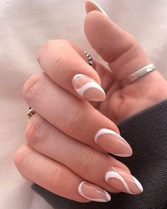 White Tip Acrylic Nails, Acrylic Nails Coffin Short, Almond Acrylic Nails, Nails With White Tips, White Oval Nails, White Almond Nails, Almond Nails French, White Acrylics, Frensh Nails
