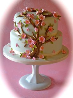 Cherry Blossom Cake - This is something my older sister might be able to pull off, not me though! :)