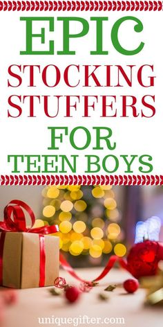 Gifts For Boys Teens Christmas Stocking Stuffers 48 Ideas - Weihnachten Christmas Gifts For Teenagers, Gifts For Teen Boys, Tween Gifts, Cheap Christmas Gifts, Christmas Stocking Fillers, Birthday Gifts For Teens, Kids Gifts, Christmas Stockings, Christmas Presents