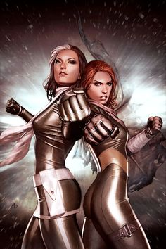 X-Men by Adi Granov / Rogue and Jean Grey
