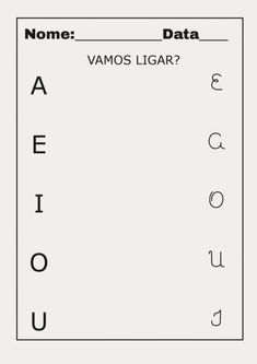 Atividades de Alfabetização com VOGAIS para prática | Wiki Mulher
