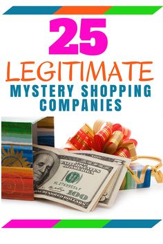 Don't get scammed, mystery shopping is a real thing. Here's 25 legitimate mystery shopping companies that you can use to earn extra money. Mystery Shopper, Home Based Business, Extra Money, Shopping