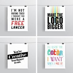 Client Quotes Set  Graphic Designer Gift  by Quotational on Etsy, $40.00