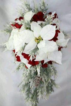 christmas wedding flower ideas