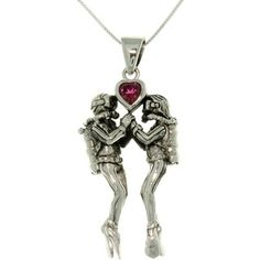 @Overstock.com - Carolina Glamour Collection Sterling Silver Sea Life Scuba Divers Heart Necklace - If you share your love of diving with someone special, you can celebrate your connection with this Sea Life Scuba Divers Heart Silver Necklace. As the divers hold hands a genuine garnet heart floats above them.    http://www.overstock.com/Jewelry-Watches/Carolina-Glamour-Collection-Sterling-Silver-Sea-Life-Scuba-Divers-Heart-Necklace/6237548/product.html?CID=214117  $87.99
