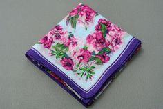 Kenzo Cotton Handkerchief Floral Pattern Hanky