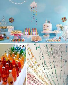 Rainbows & Unicorns PARTY THEME. Someone please do this for my birthday!