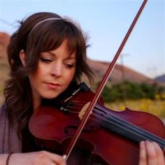 Lindsey Stirling --- she's very talented. check her out on YouTube!