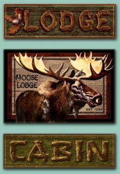 Lodge cabin sign