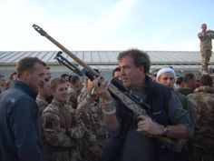 Jeremy Clarkson and his big gun #TopGear