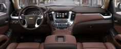 Fans of GM SUVs, rejoice: We've just had our first look at the 2015 Chevrolet Suburban, 2015 Tahoe and 2015 GMC Yukon. Early Thursday, Chevy took the wraps off the Suburban and Tahoe in New York. Chevy Tahoe Ltz, 2015 Chevy Tahoe, 2015 Tahoe, Lifted Tahoe, Chevrolet Suburban, Chevrolet Traverse, Car Chevrolet, Chevy Tahoe Interior, Diesel