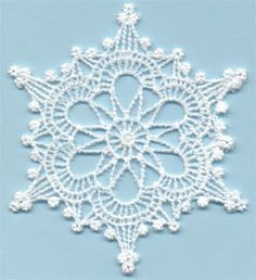 Snowflake 1 - free standing lace machine embroidery, designed to look like…