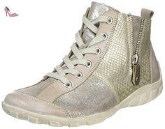 Remonte R3470, Sneakers Hautes Femme, Beige (Steel/beige-silver/hay/altsilber/43), 44 EU