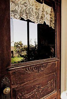 Gorgeous old brown door!