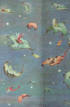 Páginas de guarda de The Tall Book of Make Believe. com ilustrações de Garth Williams | 1950