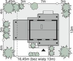 DOM.PL™ - Projekt domu Dom przy Bukowej 35A CE - DOM EB6-22 - gotowy koszt budowy Tiny House Design, House Plans, Floor Plans, How To Plan, Tiny House Cabin, Projects, House, Miniature Houses, House Floor Plans