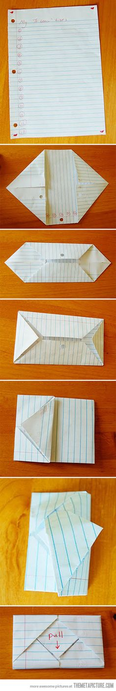 Best way to deliver a note…