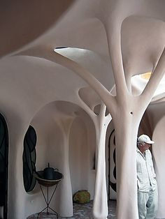 Amazing architecture that looks like white trees.