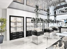 Jewelry store interior design by Timophey Vedeshkin, via Behance