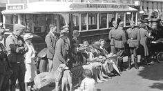 German soldiers on the street in Jersey during the Occupation of of the Channel Islands in WWII.