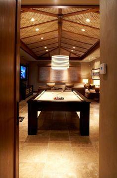 43 Billiard Room Design Ideas | Sebring Design Build Modern Pool Table Lights, Pool Table Lighting, Billiard Pool Table, Billiard Room, Antique Pool Tables, Pool Table Room, Hawaiian Homes, Kb Homes, Modern Pools