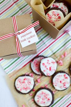 peppermint bark cookies by annieseats; my arms need to start working again so I can start baking THESE cookies!