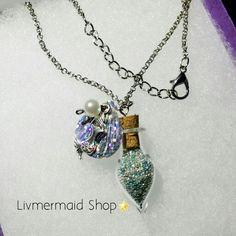 Mermaid Pearls Pendant,  I can customize your order . #handmade #hechoamano #mermaidstore #mermaidshop #shippingworldwide #enviosatodoelmundo
