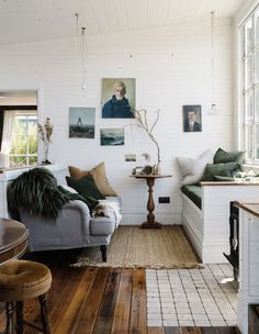 DIY Denim design Throws pillows candles baskets are great items for winter decor. Ivy House, The Design Files, Australian Homes, Mid Century House, Interior Inspiration, Living Spaces, Living Rooms, Beach House, Home And Family
