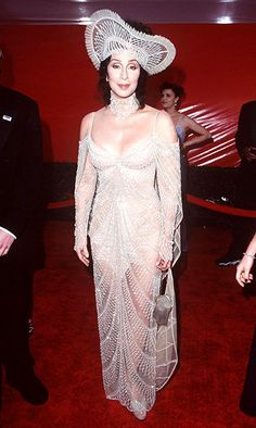 Cher looked beautiful on the red carp...