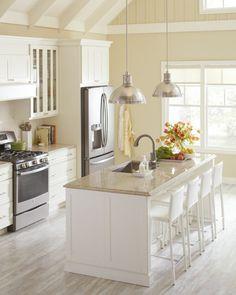 Moderne Küchen mit Kochinsel küchenblock freistehend glanz ...
