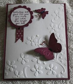 butterfly birthday by Sharmill - Cards and Paper Crafts at Splitcoaststampers