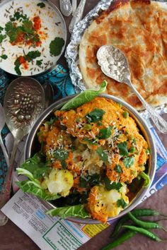 Gobi Musallam - Richly spiced cauliflower cooked with yoghurt and creamy cashew paste Whole Roasted Cauliflower, Cauliflower Recipes, Veggie Recipes, Indian Food Recipes, Real Food Recipes, Vegetarian Recipes, Cooking Recipes, Healthy Recipes, Indian Cauliflower
