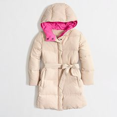 Factory girls' long belted puffer jacket - Jackets & Outerwear - FactoryGirls's FactoryGirls_Shop_By_Category - J.Crew Factory